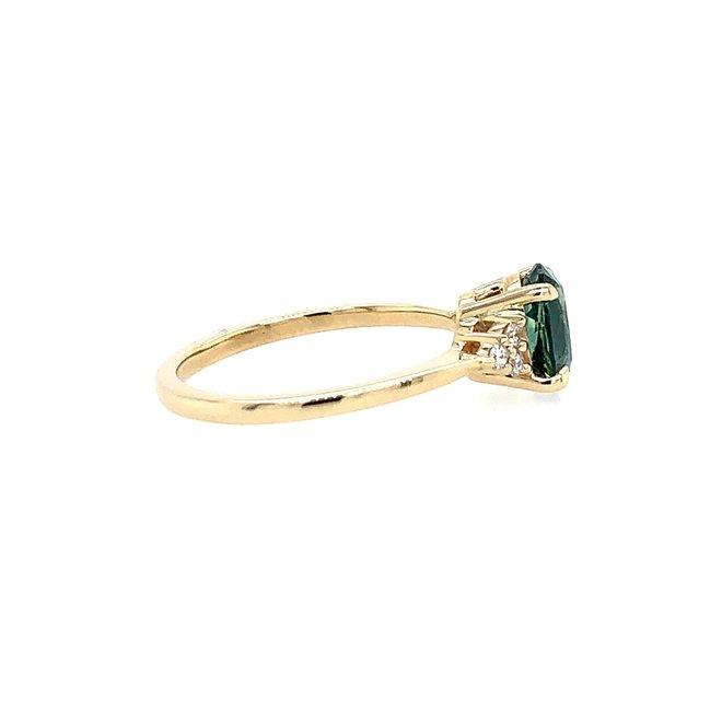 Montana blue sapphire diamond ring