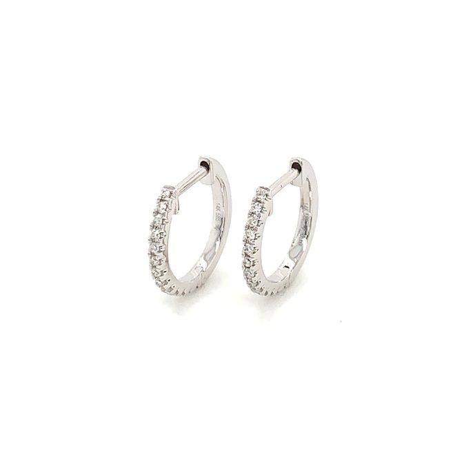 Diamond pave huggie earrings