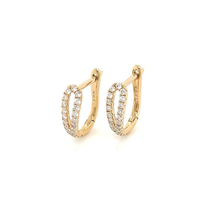 Elegant diamond huggie earrings