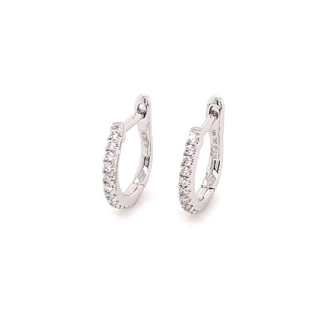 Diamond micro pave hoop earrings