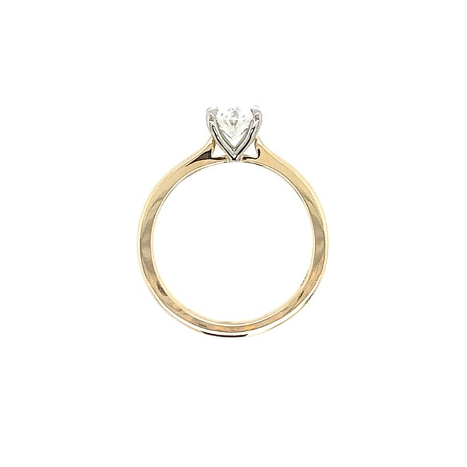 The Hailey - oval diamond solitaire engagement ring