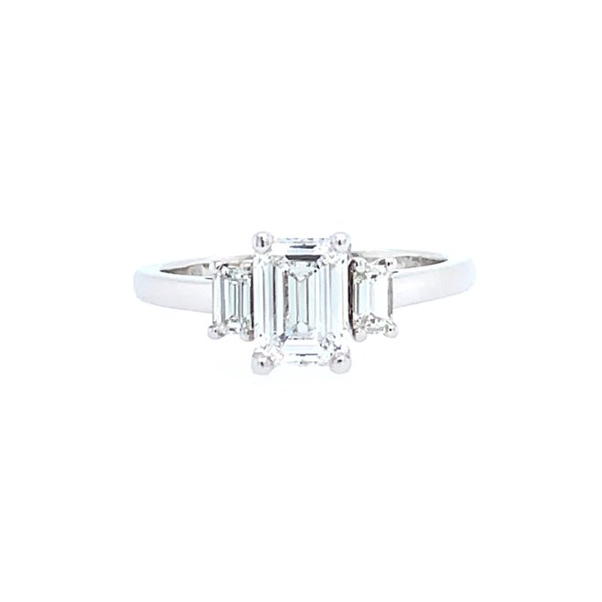 The Everly - emerald cut engagement ring