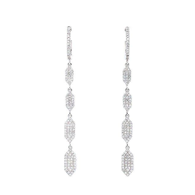 Elegant diamond drop earrings