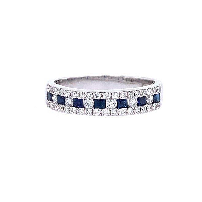 Sapphire and diamond alternating band