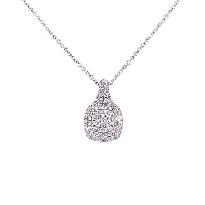 Diamond cushion shaped pendant