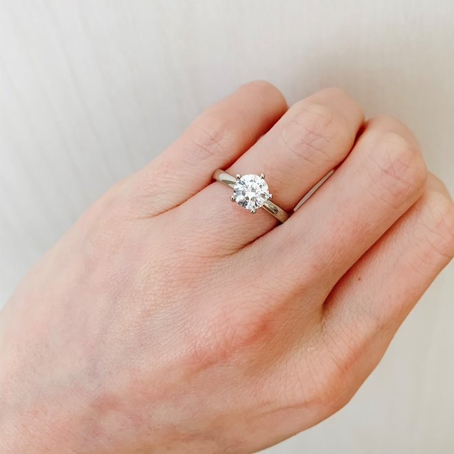 The Kate - custom diamond solitaire engagement ring