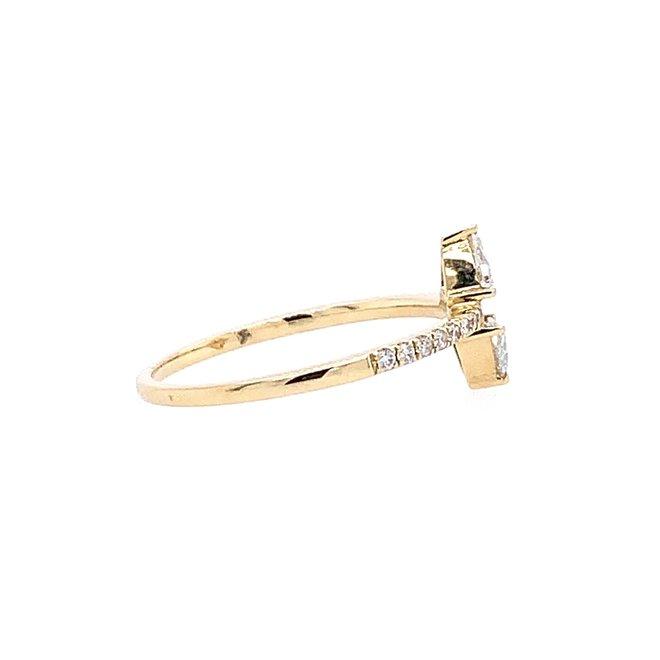 Rose Cut Trillion Diamond Ring