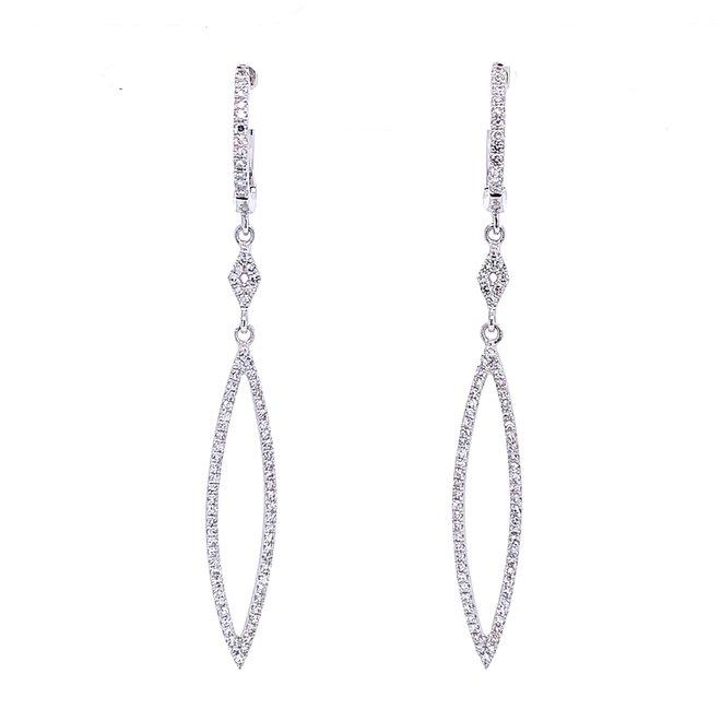 Diamond drop earrings - white gold