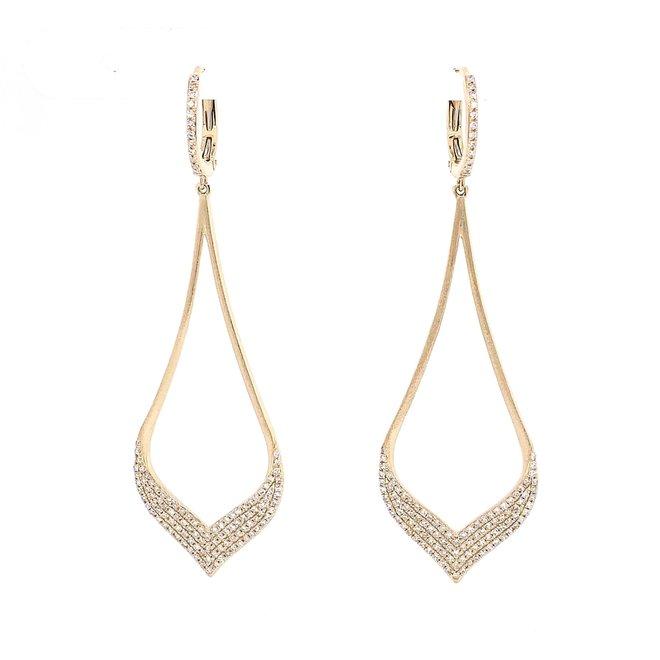 Elegant teardrop  diamond  earrings