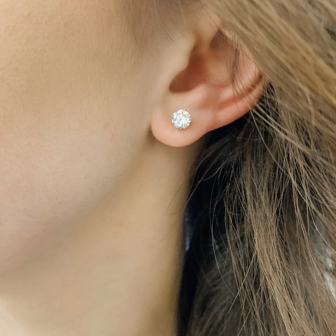 Classic diamond stud earrings - 1.25ct total weight