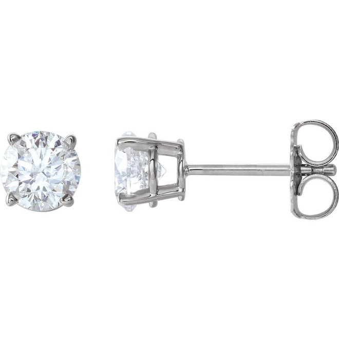 Classic diamond stud earrings - 1.40ct total weight