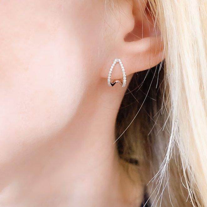 Elegant White Gold Diamond Earrings