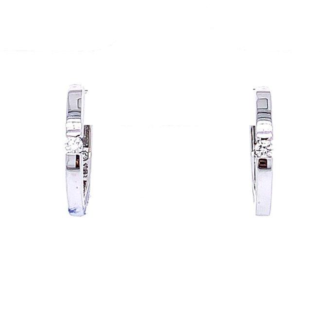 Petite diamond huggie earrings