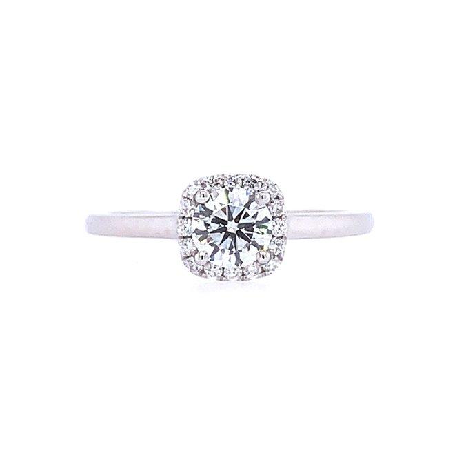 White Gold Halo Engagement Ring