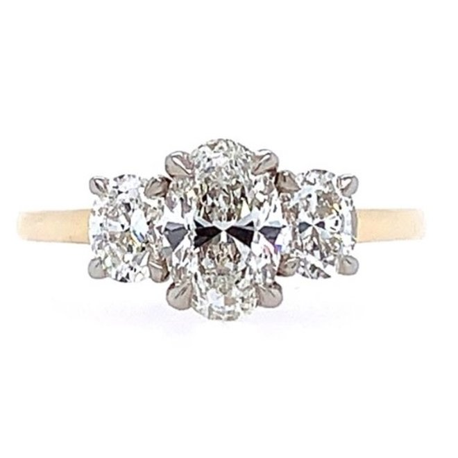 The Grace - Oval Trinity Engagement Ring