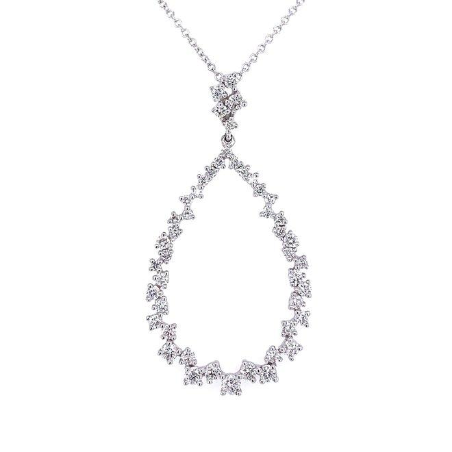 Elegant Multi Size Diamond Pendant