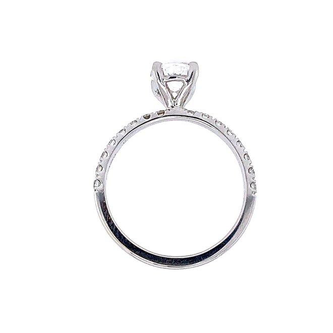 The Mona - custom oval diamond engagement ring.