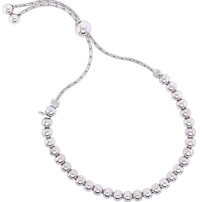 Sterling silver beaded bracelet