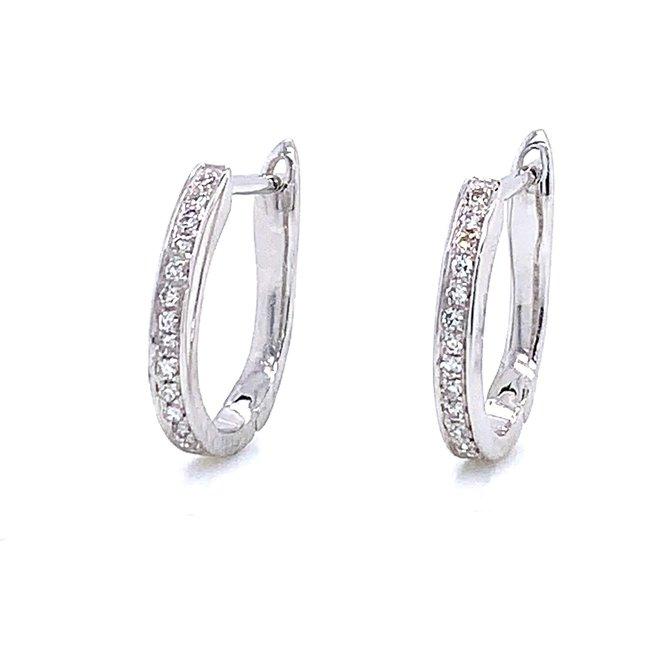 White gold diamond hoops - petite
