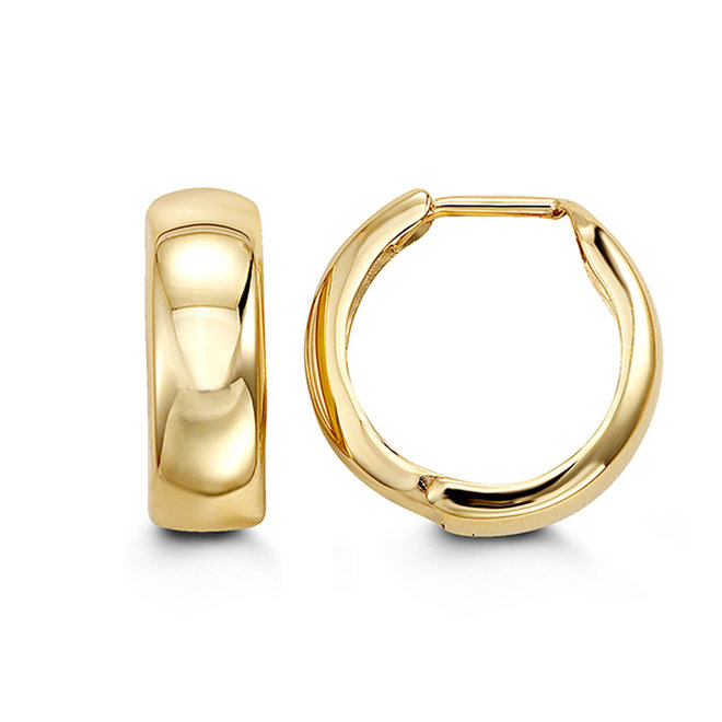 Gold Huggie Style Hoop Earrings