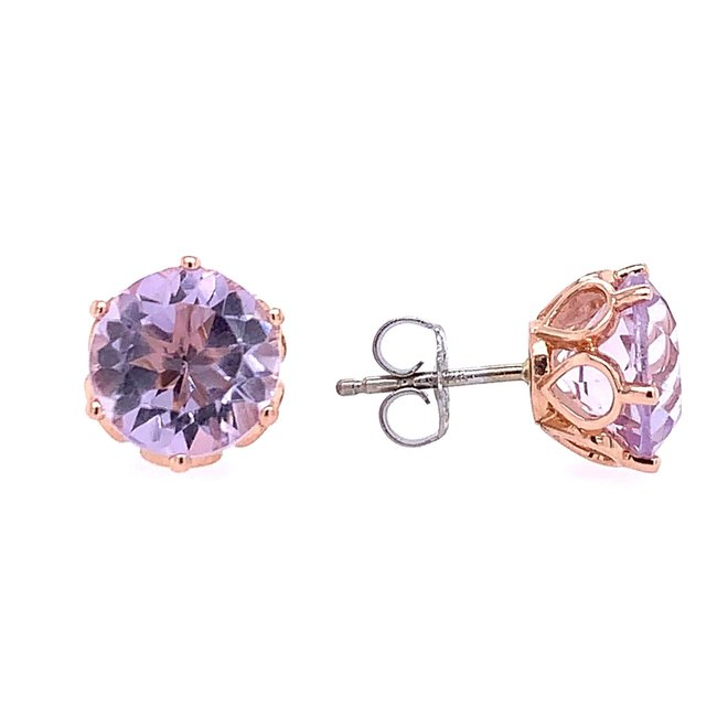 Lilac Amethyst Stud Earrings