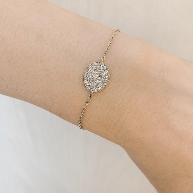 Oval Shaped Diamond Bracelet