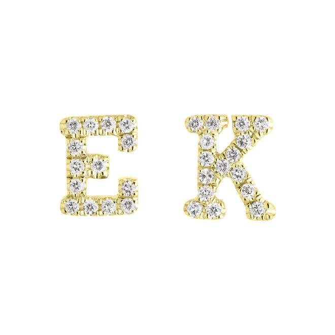 Personalized diamond initial stud earring – as seen on Jillian Harris