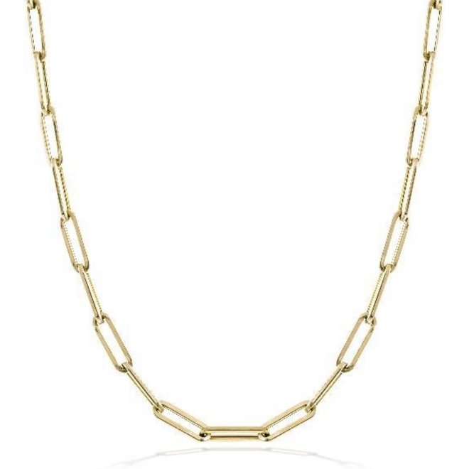 Oval cable link necklace