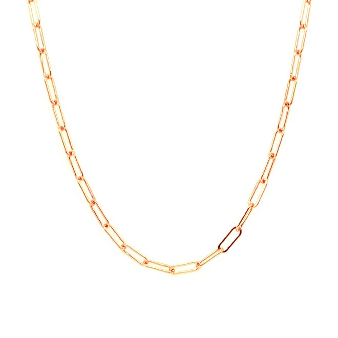 Petite cable link necklace - rose