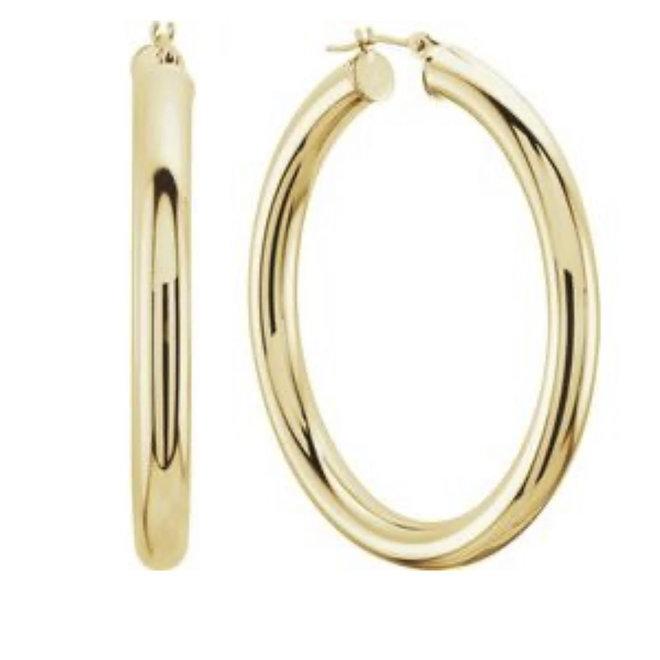 Tube Hoop Earrings-30mm