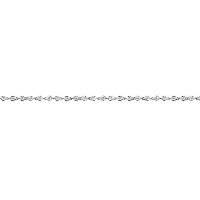 Tennis Bracelet With Bezel Set Diamonds