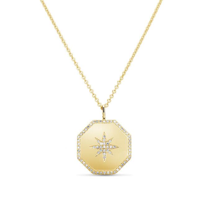 North star diamond pendant