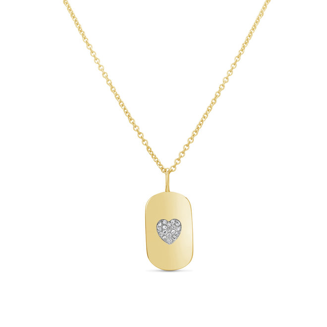 Diamond and gold heart pendant