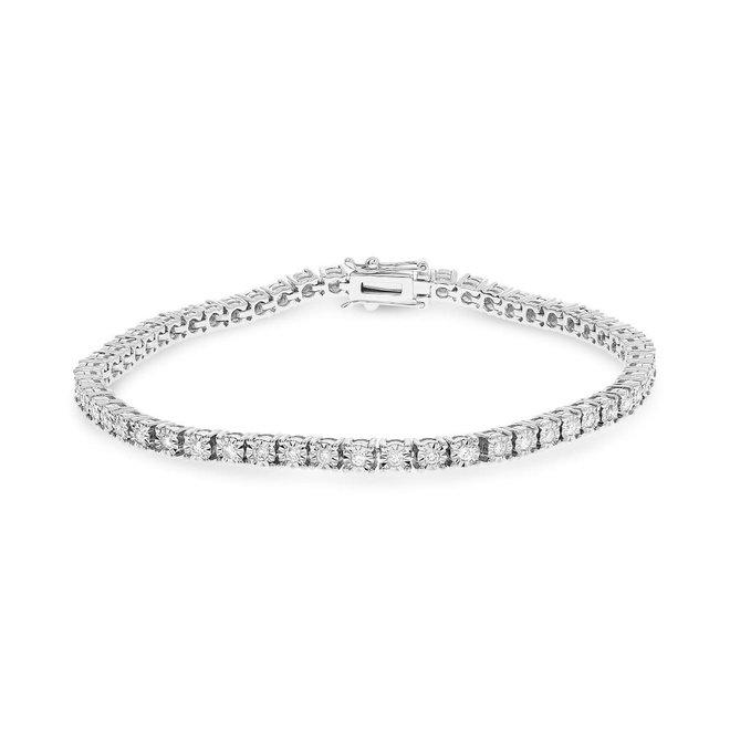Classic diamond tennis bracelet 1.00ct tw