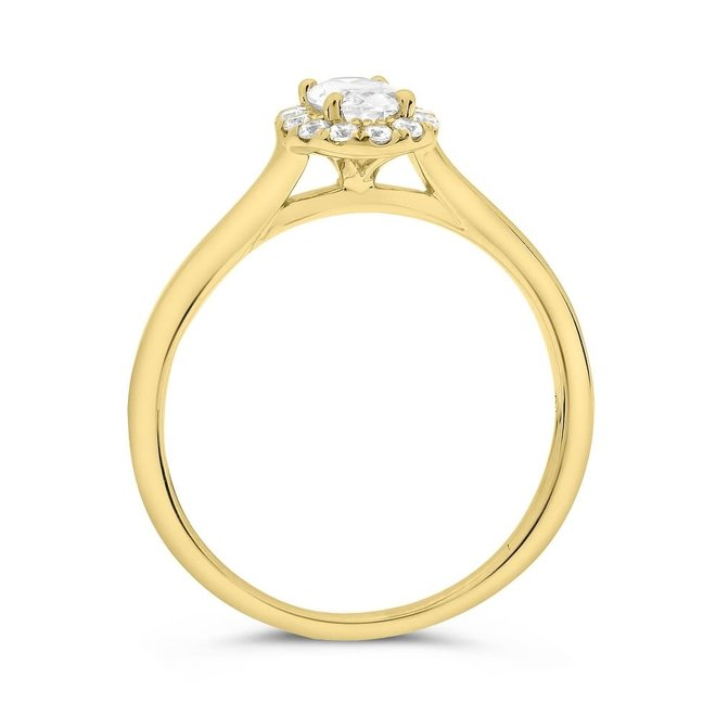 The Lily - oval diamond halo engagement ring