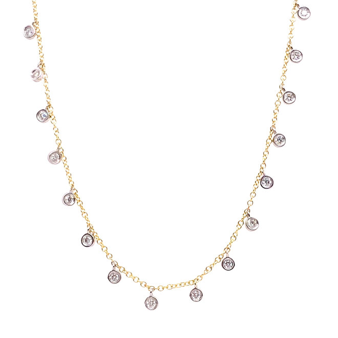 Diamond accented choker necklace