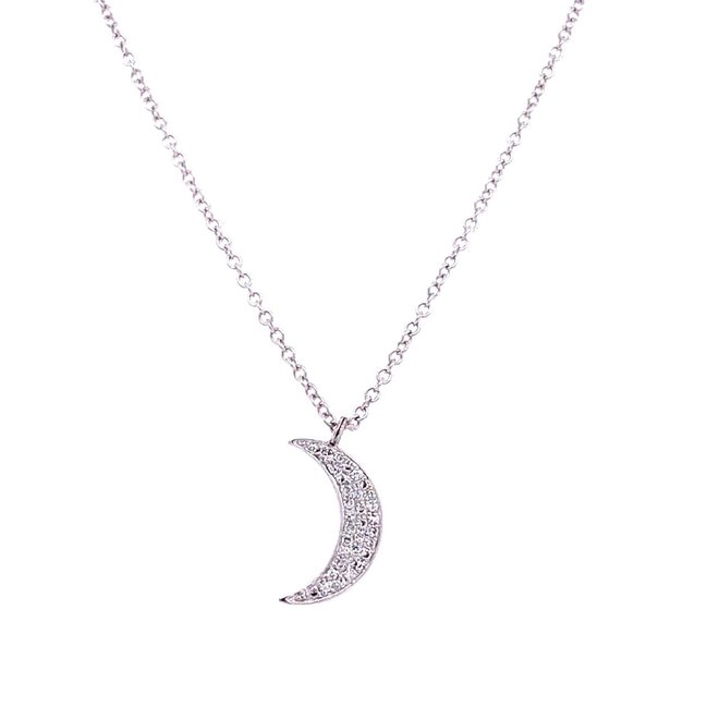 Half moon diamond pendant