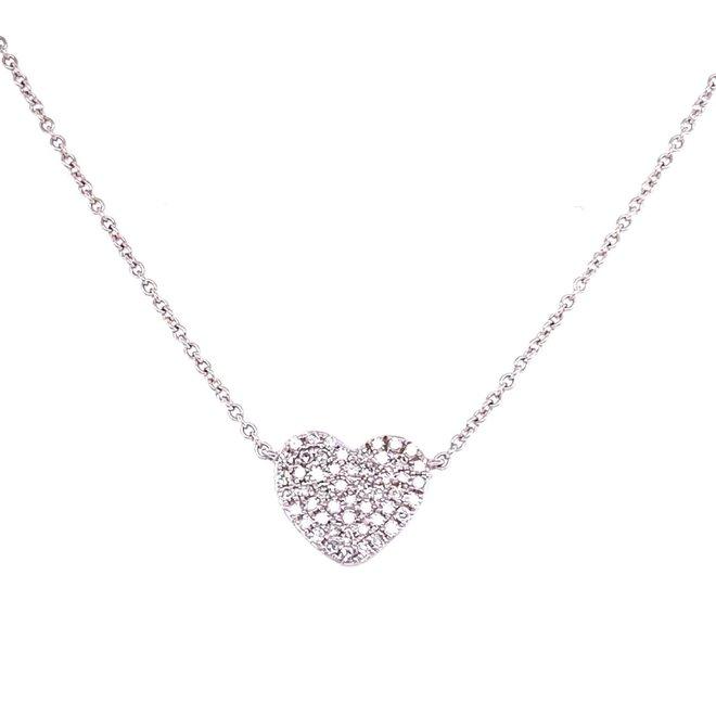 Diamond Heart Pendant-Large