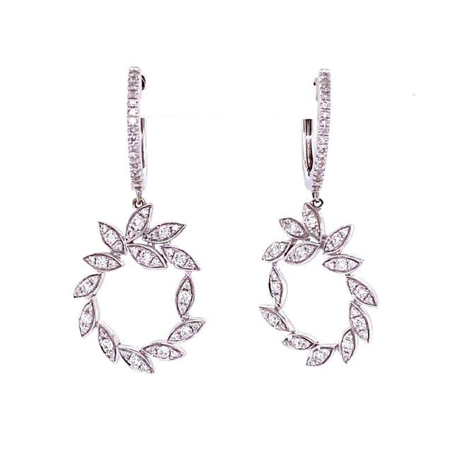 Diamond petal drop earrings