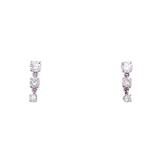 Diamond trinity earrings