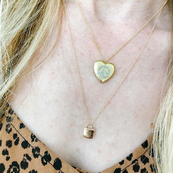 Ladies Heart Pendant With Diamond Accent