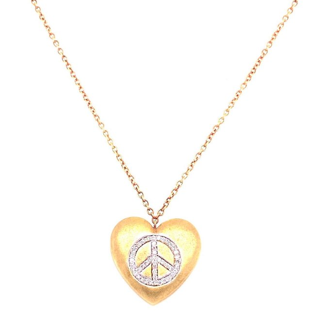 Heart peace pendant