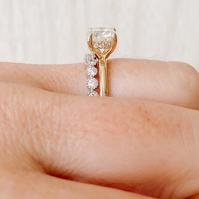 The Georgia - custom diamond solitaire engagement ring
