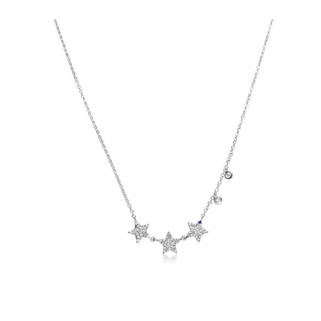 Diamond Star Charm Necklace