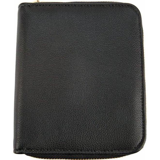 Black leatherette jewellery clutch