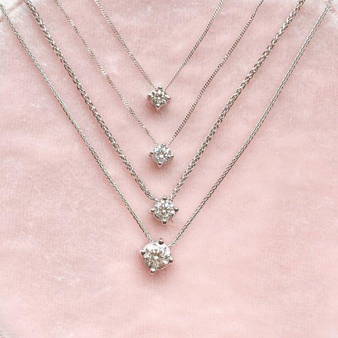Floating diamond solitaire pendant-petite