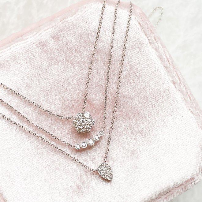 Diamond flower pendant-petite