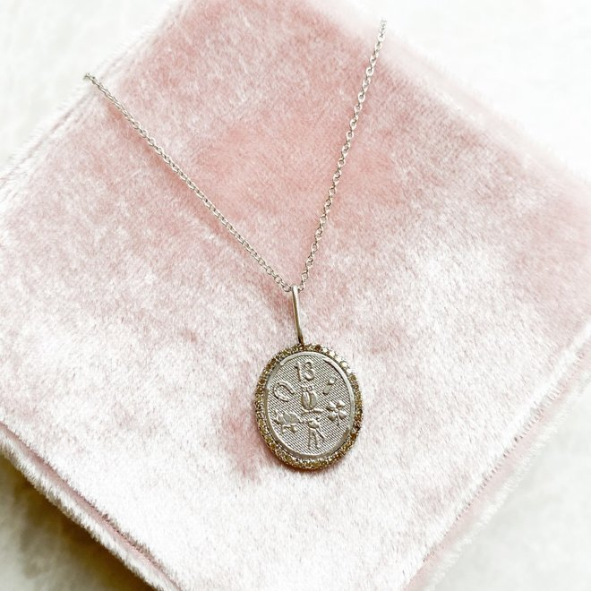 Diamond symbol good luck charm