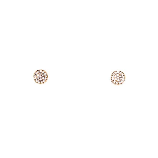 Yellow Gold Disc Earrings-Medium