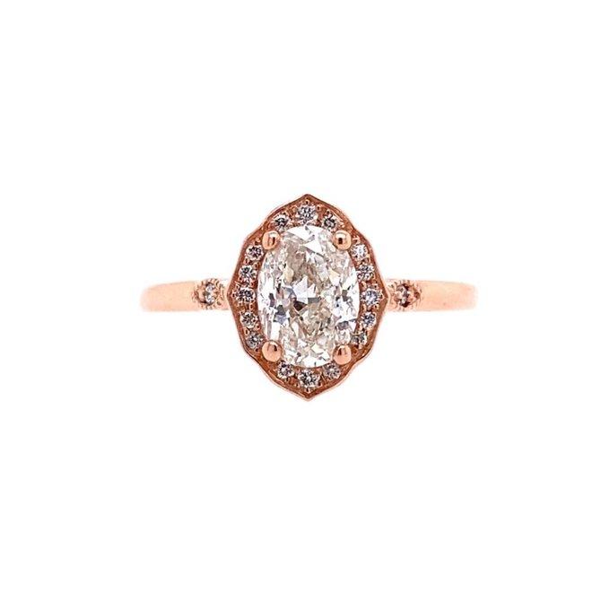 The Maren - custom oval engagement ring